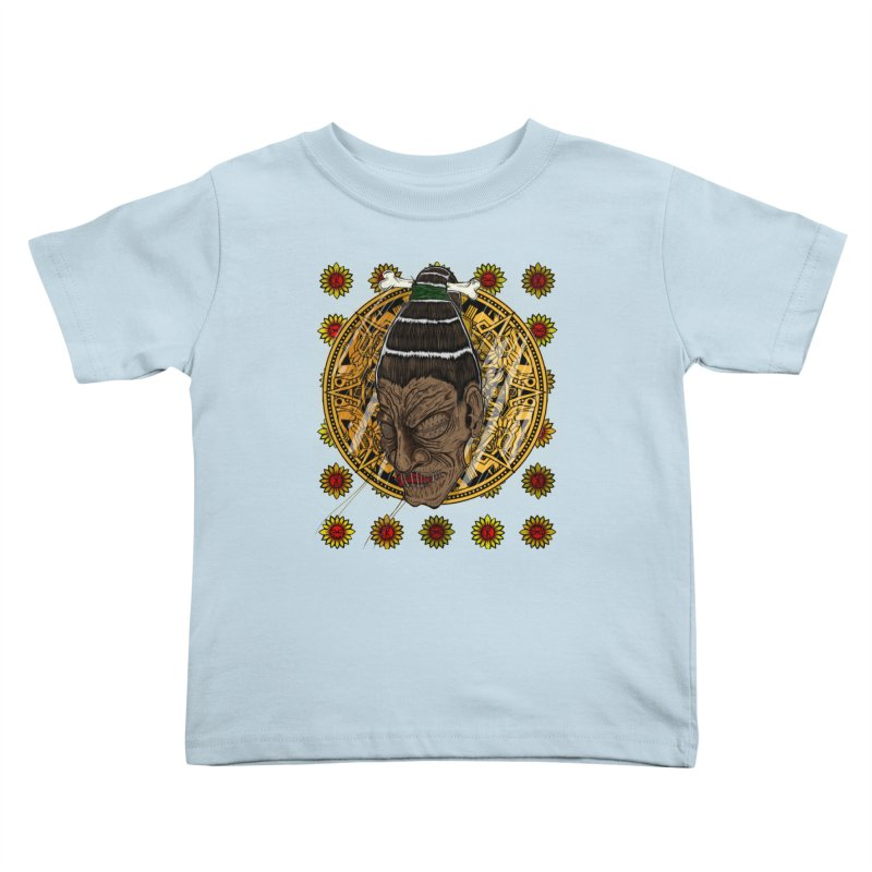 Aztecthica Kids Toddler T-Shirt by thewayofpk - wear 2 scare
