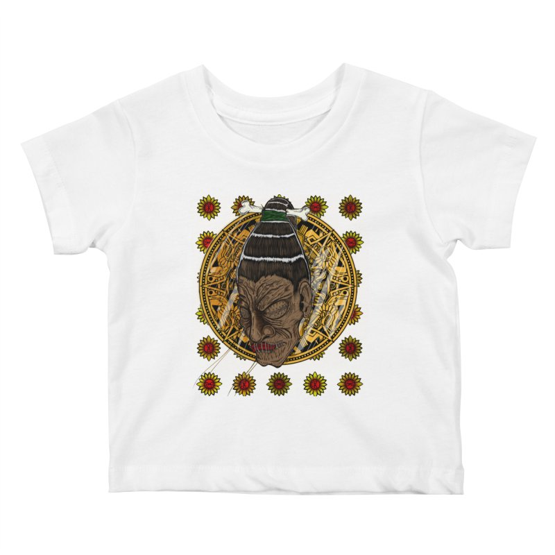 Aztecthica Kids Baby T-Shirt by thewayofpk - wear 2 scare