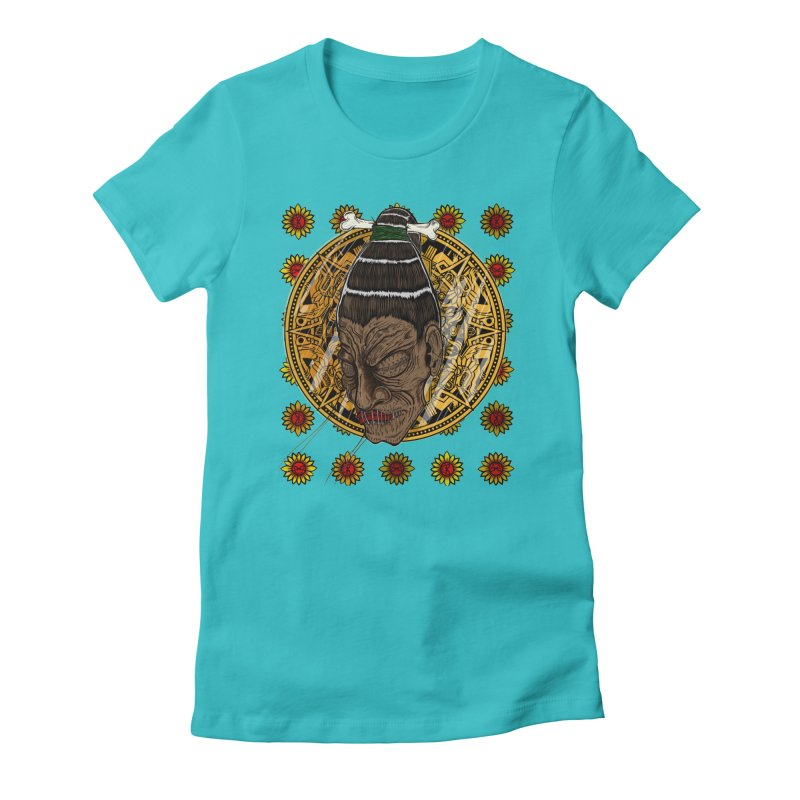 Aztecthica Women's Fitted T-Shirt by thewayofpk - wear 2 scare