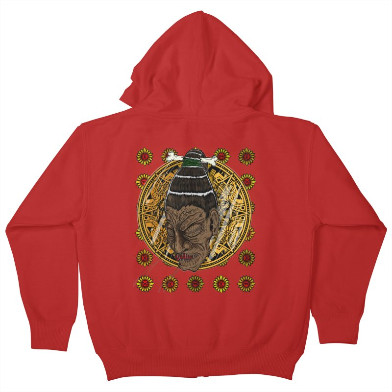 Aztecthica Kids Zip-Up Hoody by thewayofpk - wear 2 scare