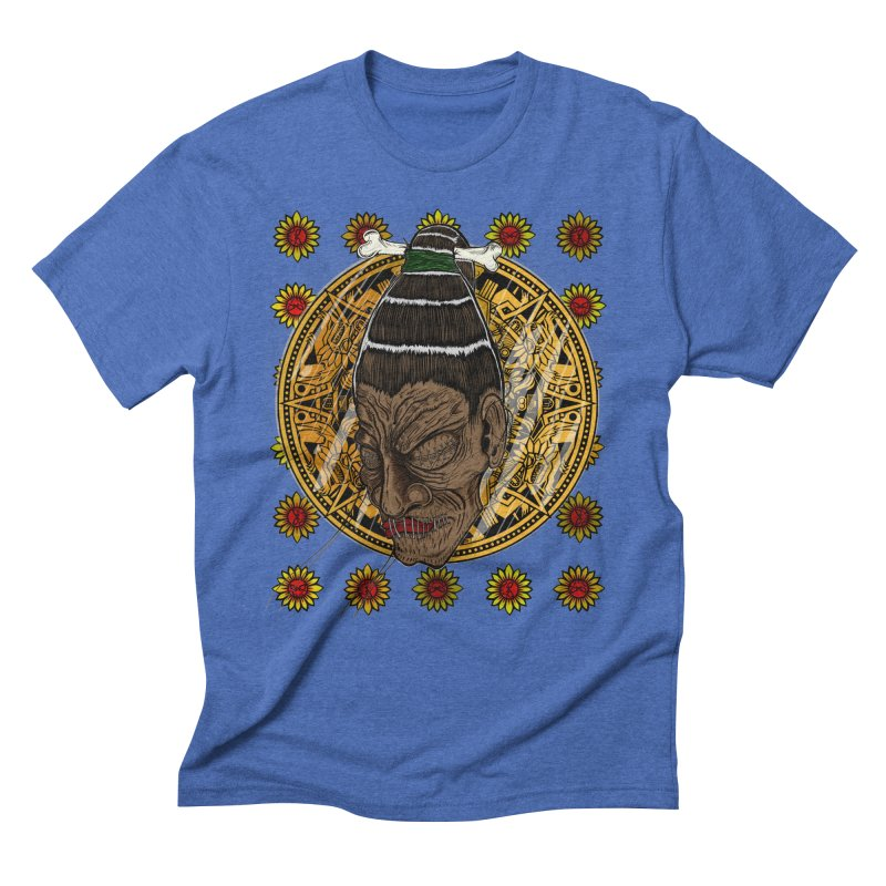 Aztecthica Men's Triblend T-shirt by thewayofpk - wear 2 scare