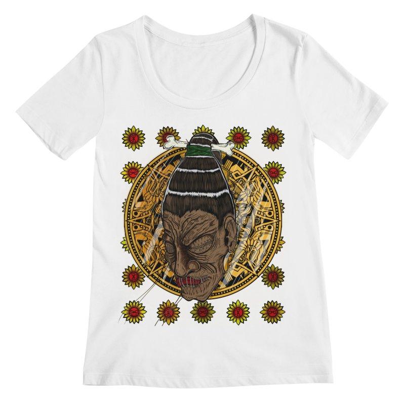 Aztecthica Women's Regular Scoop Neck by THEWAYOFPK