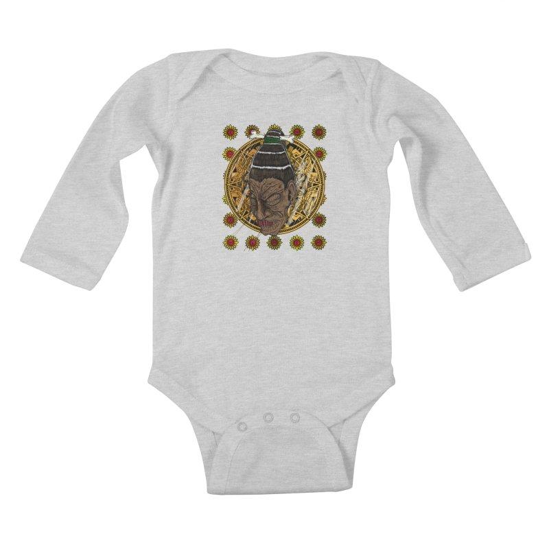 Aztecthica Kids Baby Longsleeve Bodysuit by thewayofpk