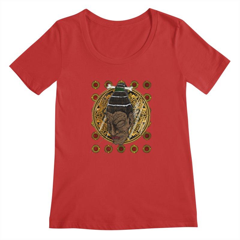 Aztecthica Women's Scoopneck by thewayofpk - wear 2 scare