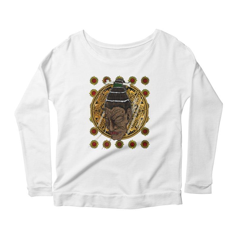 Aztecthica Women's Longsleeve Scoopneck  by thewayofpk - wear 2 scare