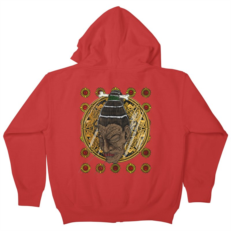 Aztecthica Kids Zip-Up Hoody by thewayofpk