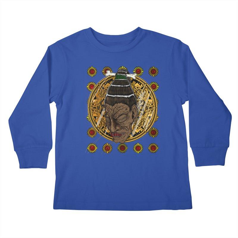 Aztecthica Kids Longsleeve T-Shirt by thewayofpk - wear 2 scare