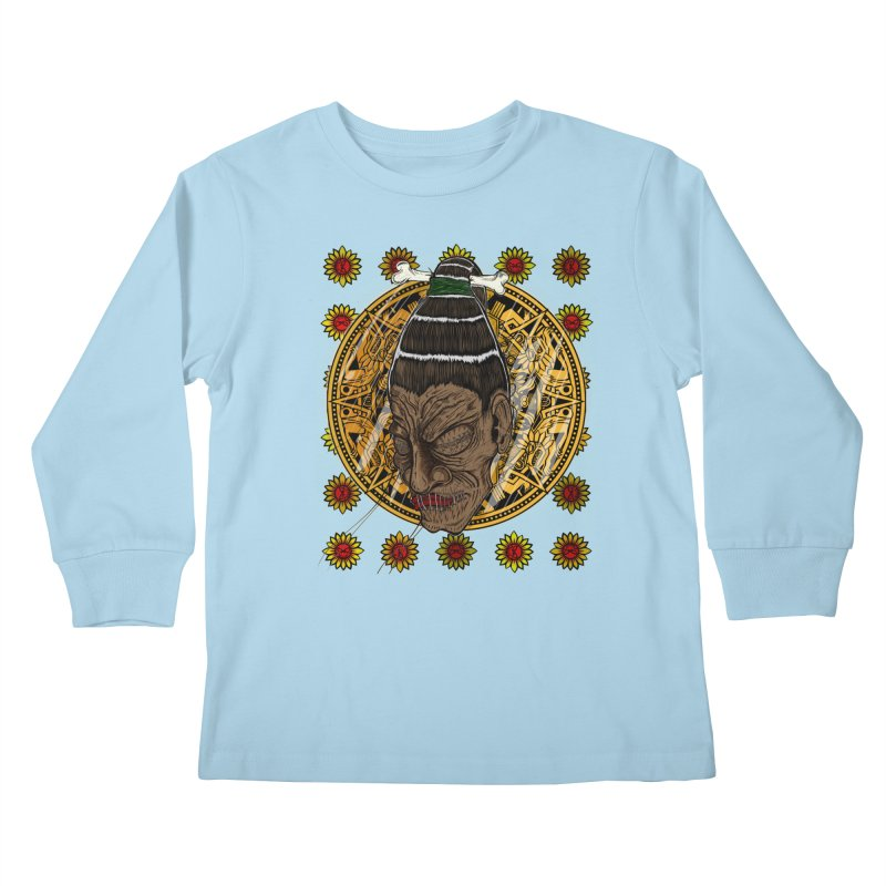 Aztecthica Kids Longsleeve T-Shirt by thewayofpk - wear 2 scare