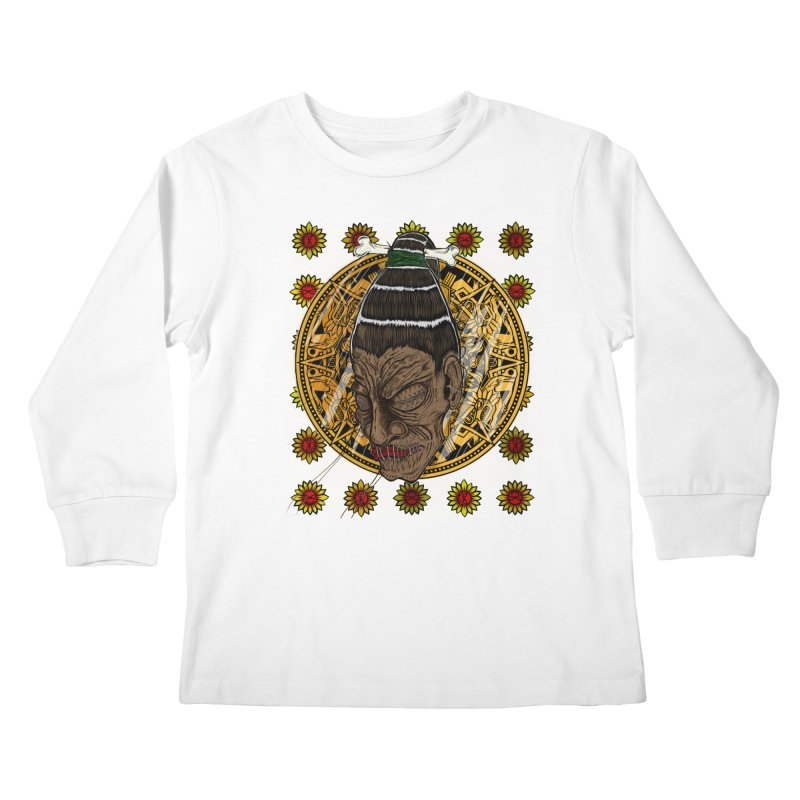 Aztecthica Kids Longsleeve T-Shirt by thewayofpk