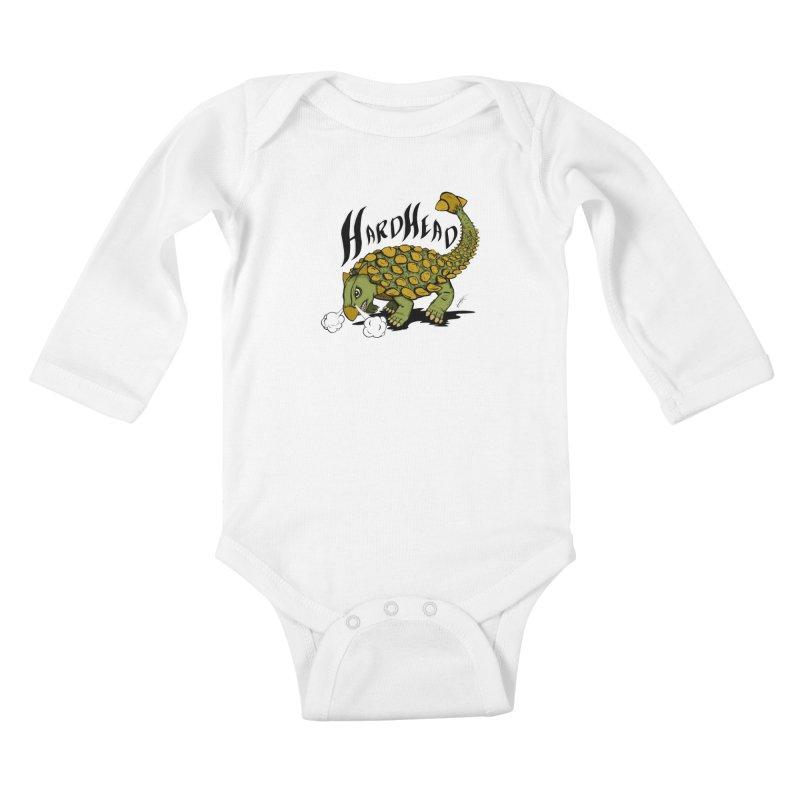 Hard Headed  Kids Baby Longsleeve Bodysuit by thewayofpk