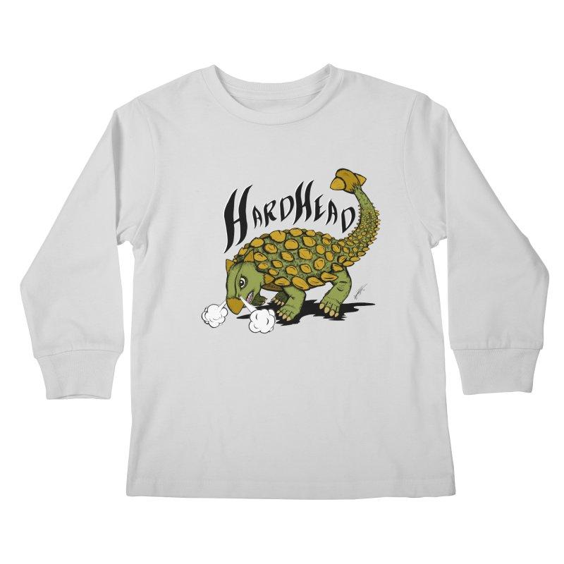 Hard Headed  Kids Longsleeve T-Shirt by thewayofpk - wear 2 scare