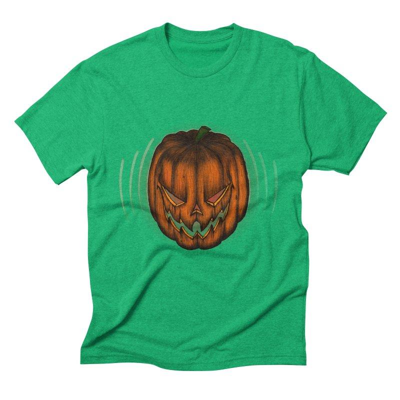 Cutout Grin Men's Triblend T-shirt by thewayofpk - wear 2 scare