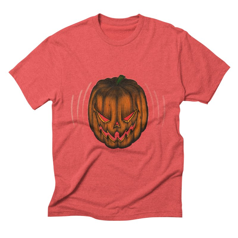 Cutout Grin Men's Triblend T-Shirt by thewayofpk