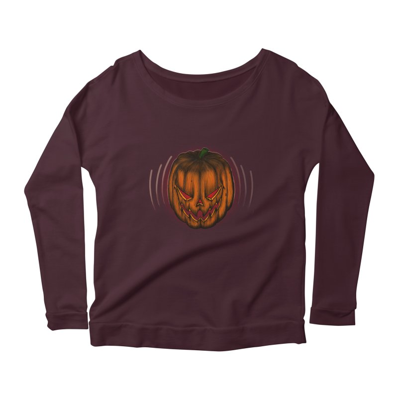 Cutout Grin Women's Longsleeve Scoopneck  by thewayofpk - wear 2 scare
