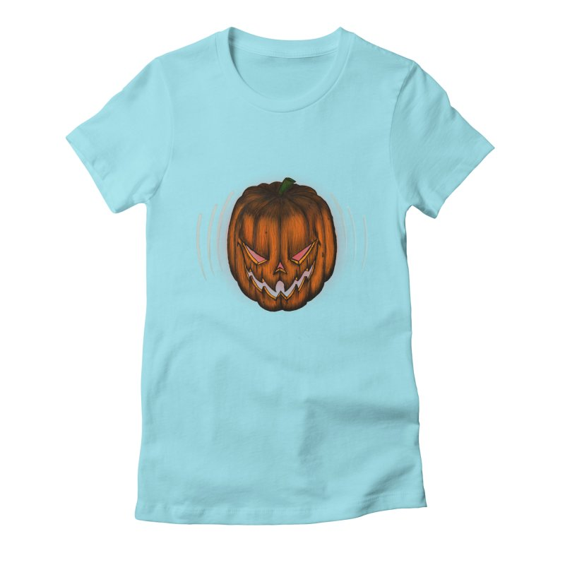 Cutout Grin Women's Fitted T-Shirt by thewayofpk