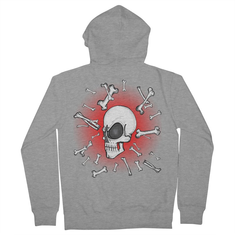 Mad 2 Da Bone Men's Zip-Up Hoody by thewayofpk - wear 2 scare
