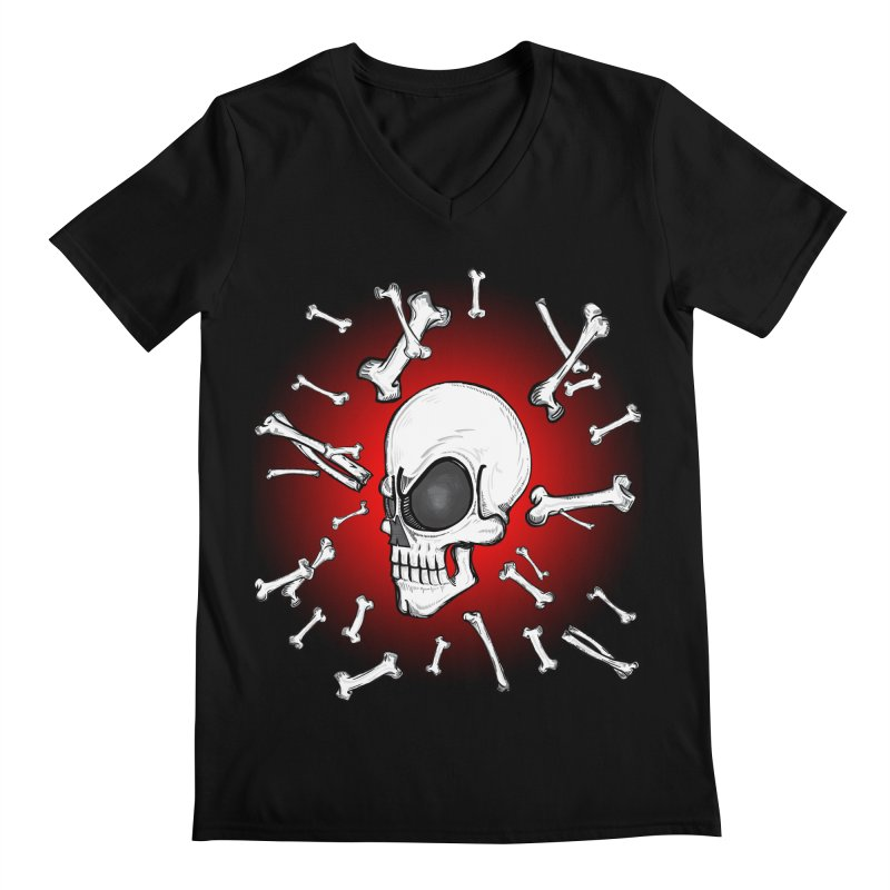 Mad 2 Da Bone Men's V-Neck by thewayofpk - wear 2 scare