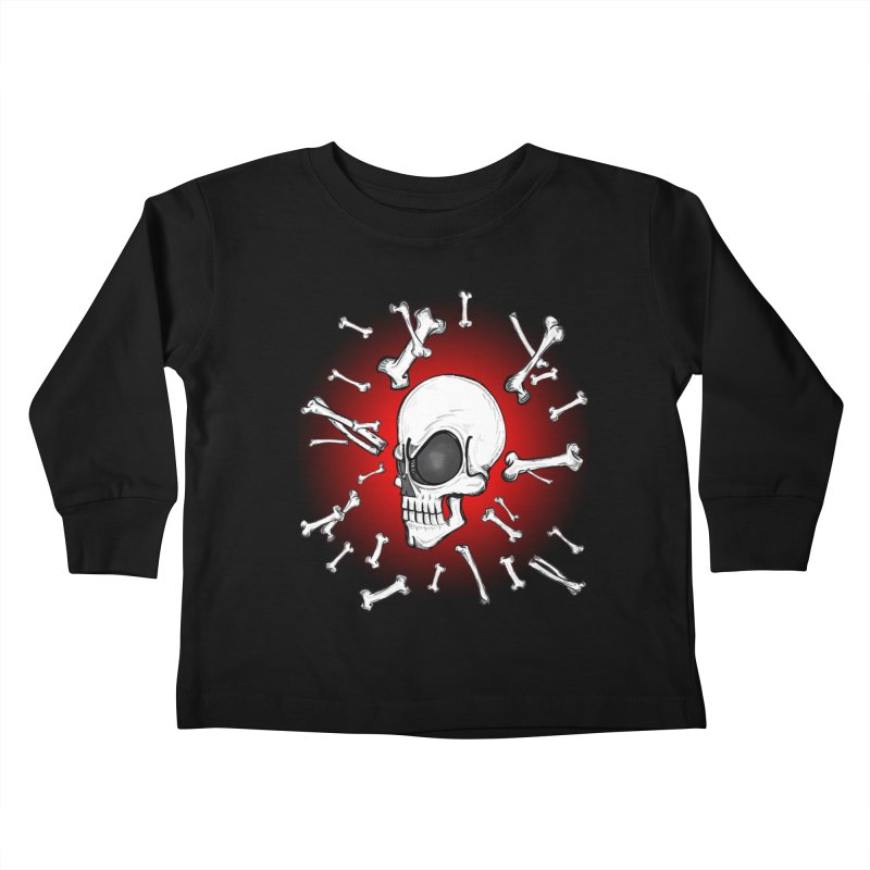 Mad 2 Da Bone Kids Toddler Longsleeve T-Shirt by THEWAYOFPK
