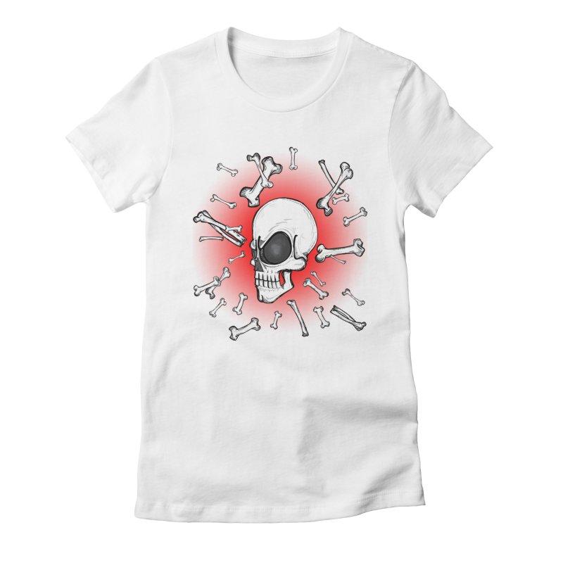 Mad 2 Da Bone Women's Fitted T-Shirt by thewayofpk - wear 2 scare