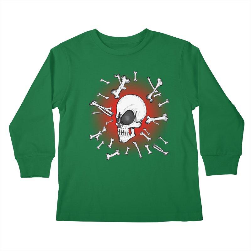 Mad 2 Da Bone Kids Longsleeve T-Shirt by thewayofpk - wear 2 scare