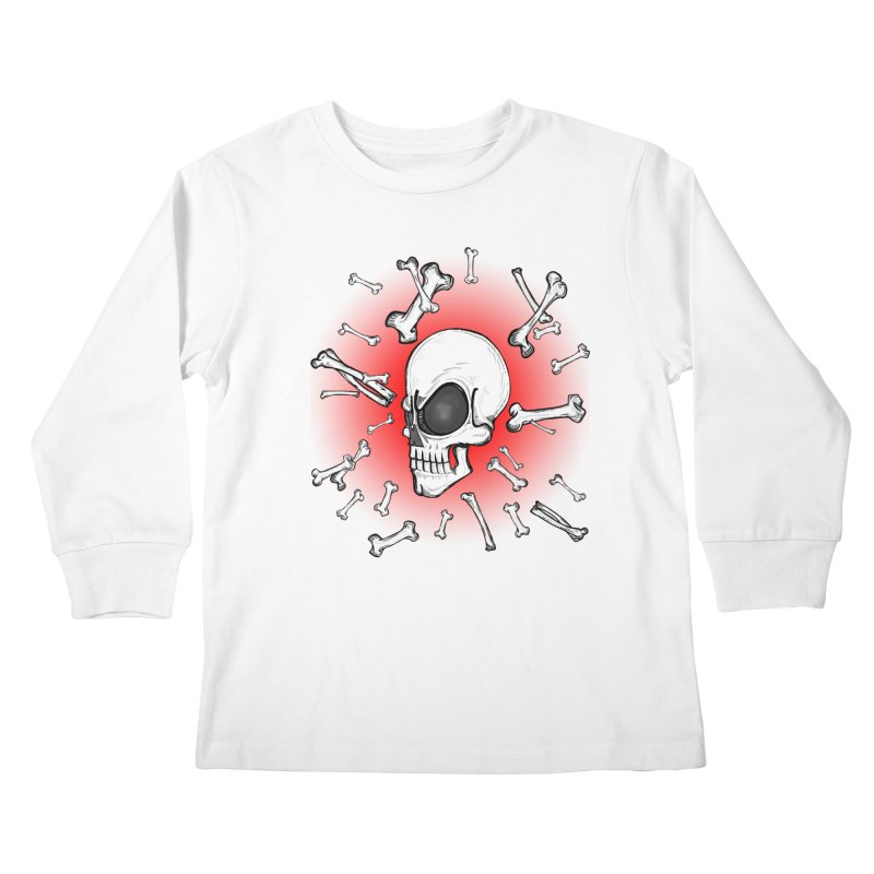 Mad 2 Da Bone Kids Longsleeve T-Shirt by thewayofpk - wear 2 scare