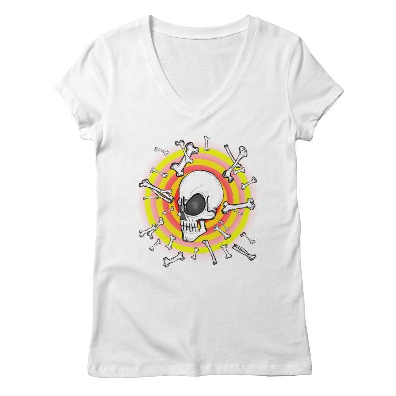 Madder 2 Da Bone Women's V-Neck by thewayofpk - wear 2 scare