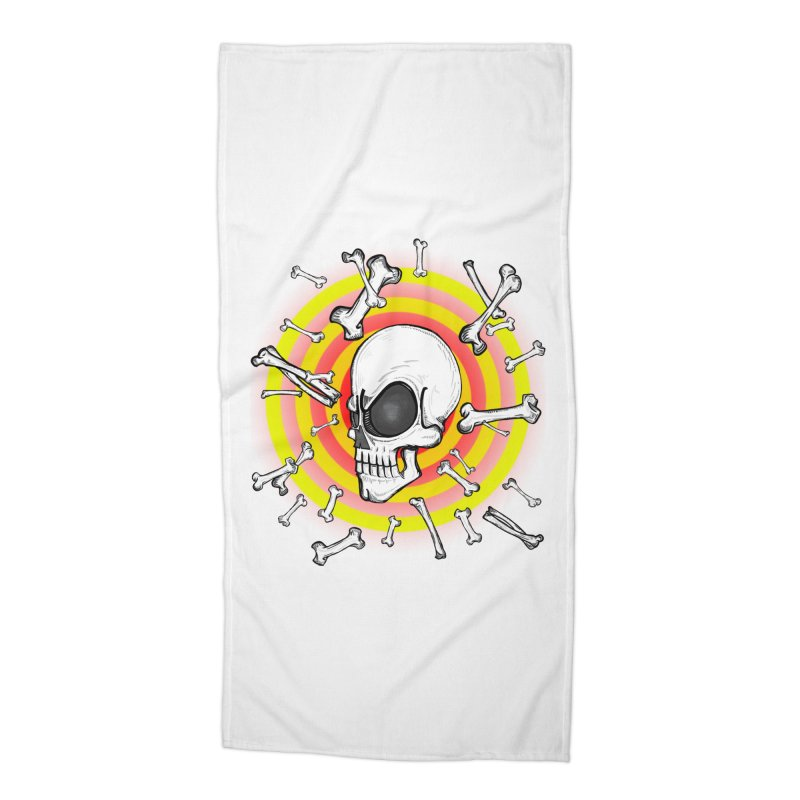 Madder 2 Da Bone Accessories Beach Towel by thewayofpk - wear 2 scare