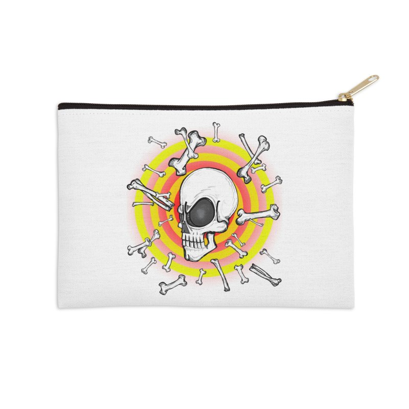 Madder 2 Da Bone Accessories Zip Pouch by thewayofpk - wear 2 scare