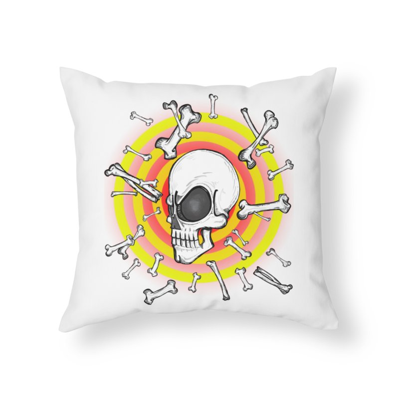Madder 2 Da Bone Home Throw Pillow by thewayofpk