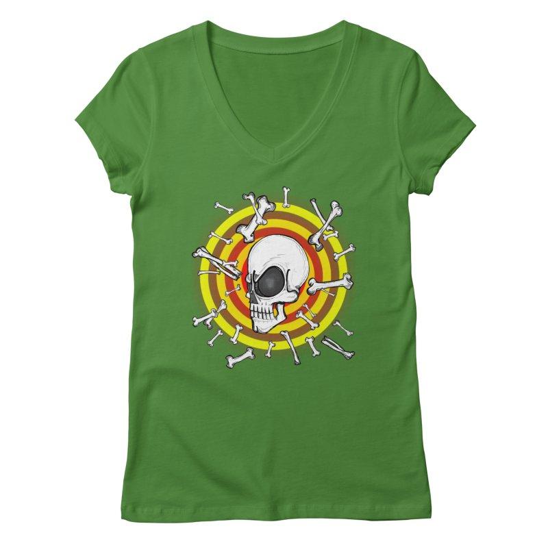 Madder 2 Da Bone Women's Regular V-Neck by THEWAYOFPK