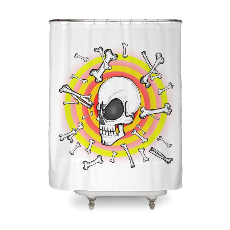 Madder 2 Da Bone Home Shower Curtain by THEWAYOFPK