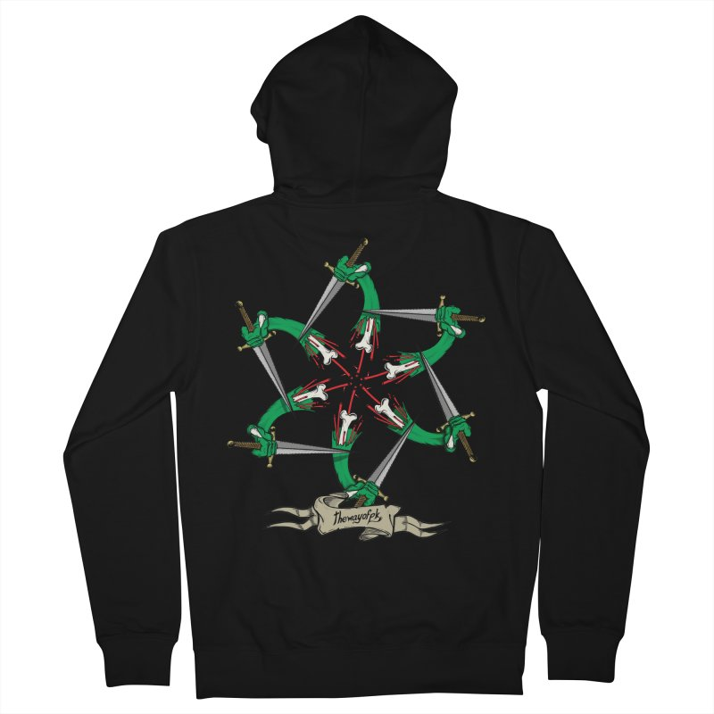 What Goes Around Comes Around Men's French Terry Zip-Up Hoody by THEWAYOFPK