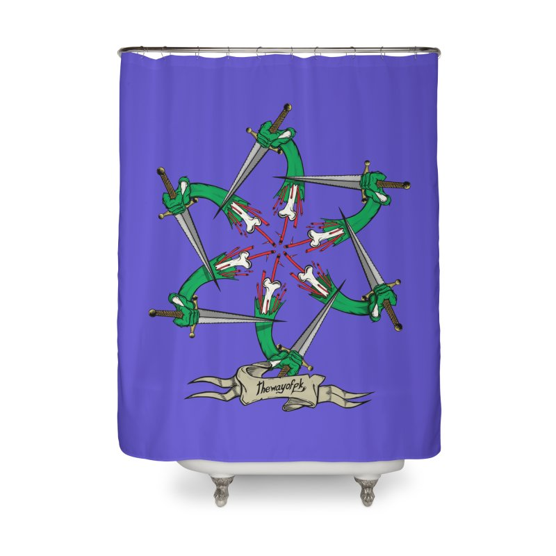 What Goes Around Comes Around Home Shower Curtain by THEWAYOFPK
