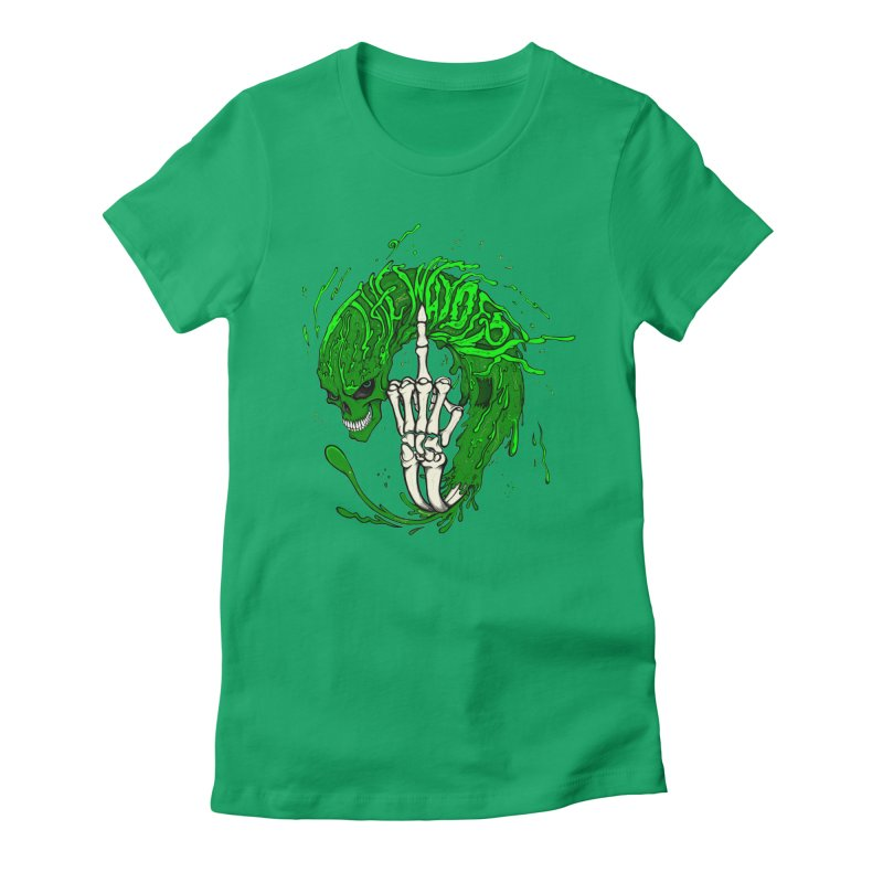 Slimey Diss Women's Fitted T-Shirt by THEWAYOFPK
