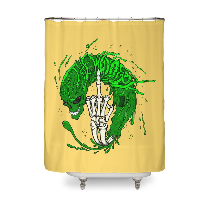 Slimey Diss Home Shower Curtain by THEWAYOFPK