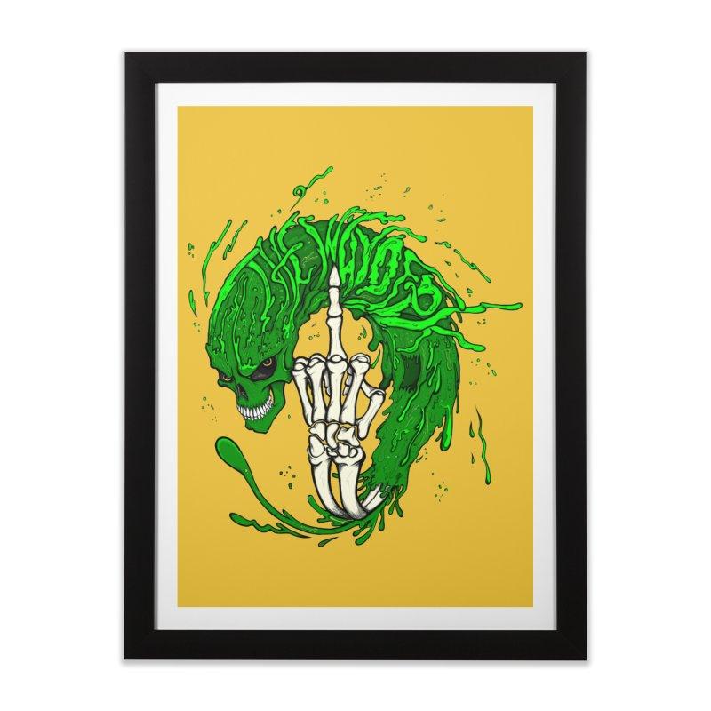 Slimey Diss Home Framed Fine Art Print by THEWAYOFPK