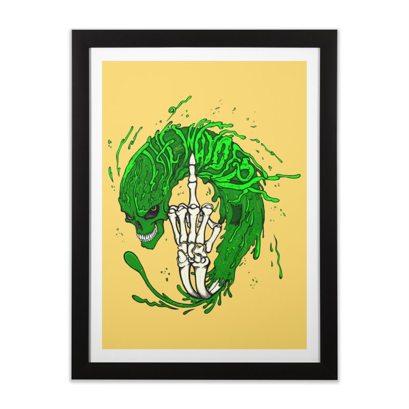Slimey Diss Home Framed Fine Art Print by THEWAYOFPK