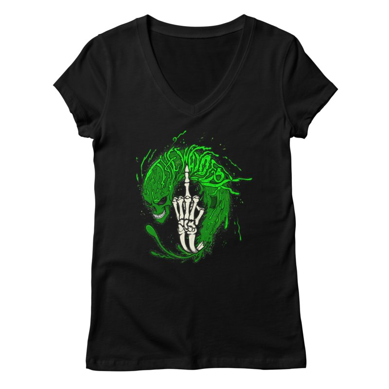 Slimey Diss 2 Women's Regular V-Neck by THEWAYOFPK