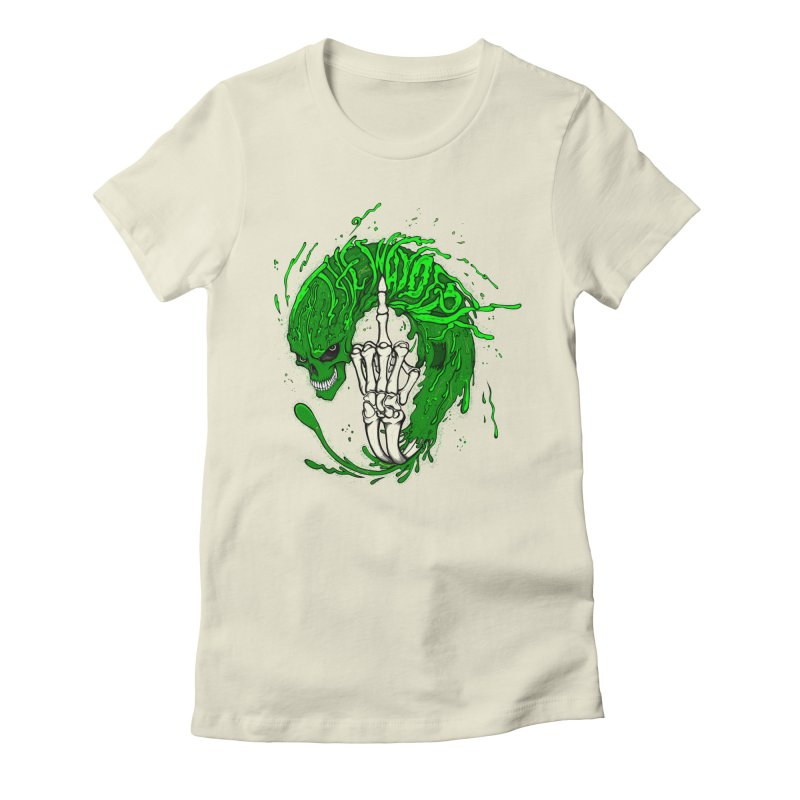 Slimey Diss 2 Women's Fitted T-Shirt by THEWAYOFPK