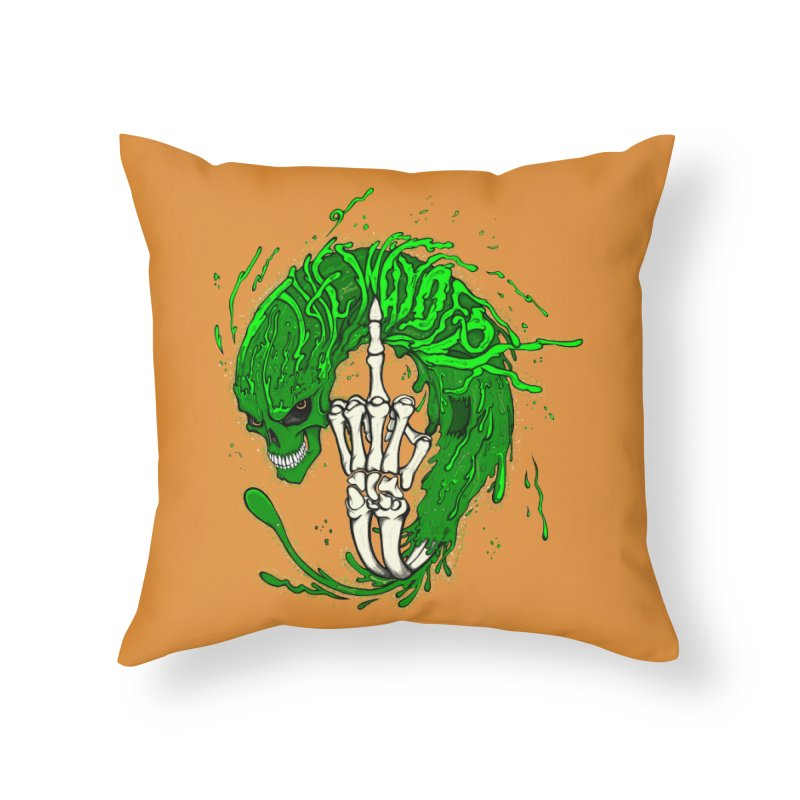 Slimey Diss 2 Home Throw Pillow by THEWAYOFPK