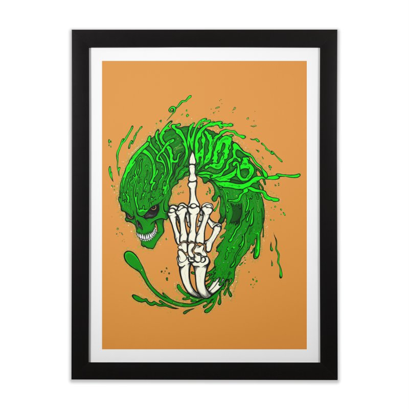 Slimey Diss 2 Home Framed Fine Art Print by THEWAYOFPK