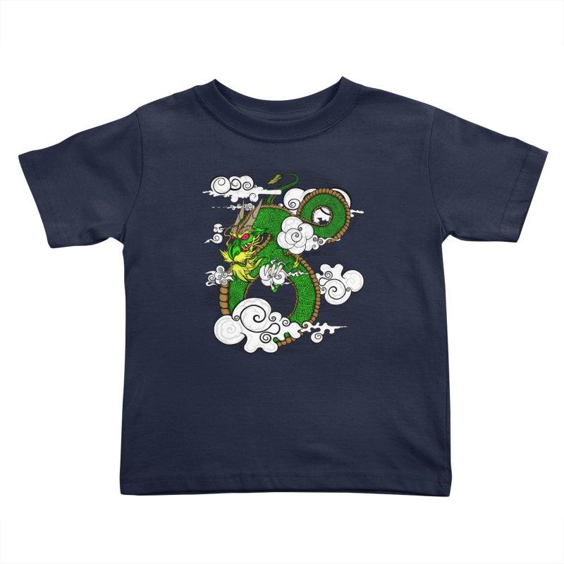 Dragon Daze Kids Toddler T-Shirt by THEWAYOFPK