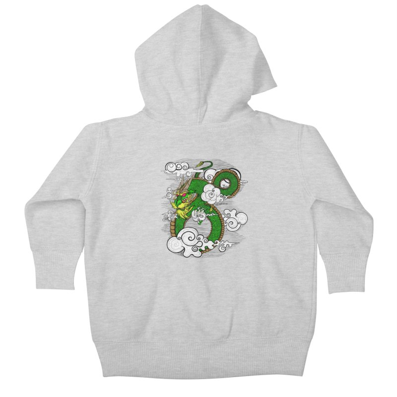 Dragon Daze Kids Baby Zip-Up Hoody by THEWAYOFPK