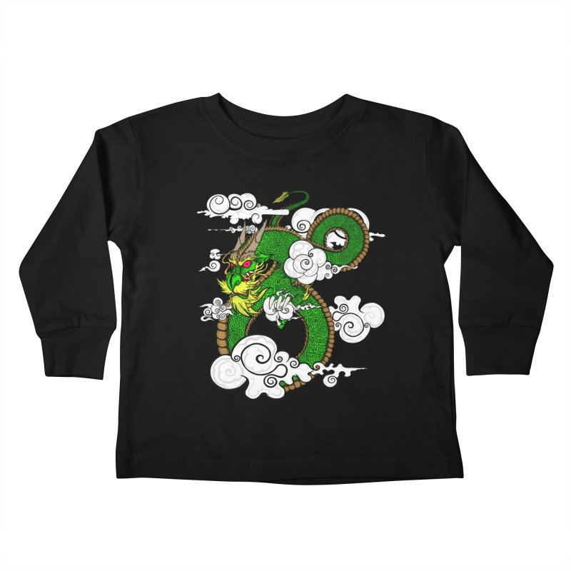 Dragon Daze Kids Toddler Longsleeve T-Shirt by THEWAYOFPK