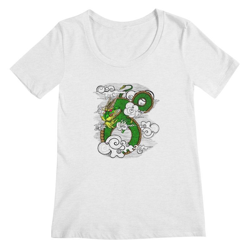 Dragon Daze Women's Regular Scoop Neck by THEWAYOFPK