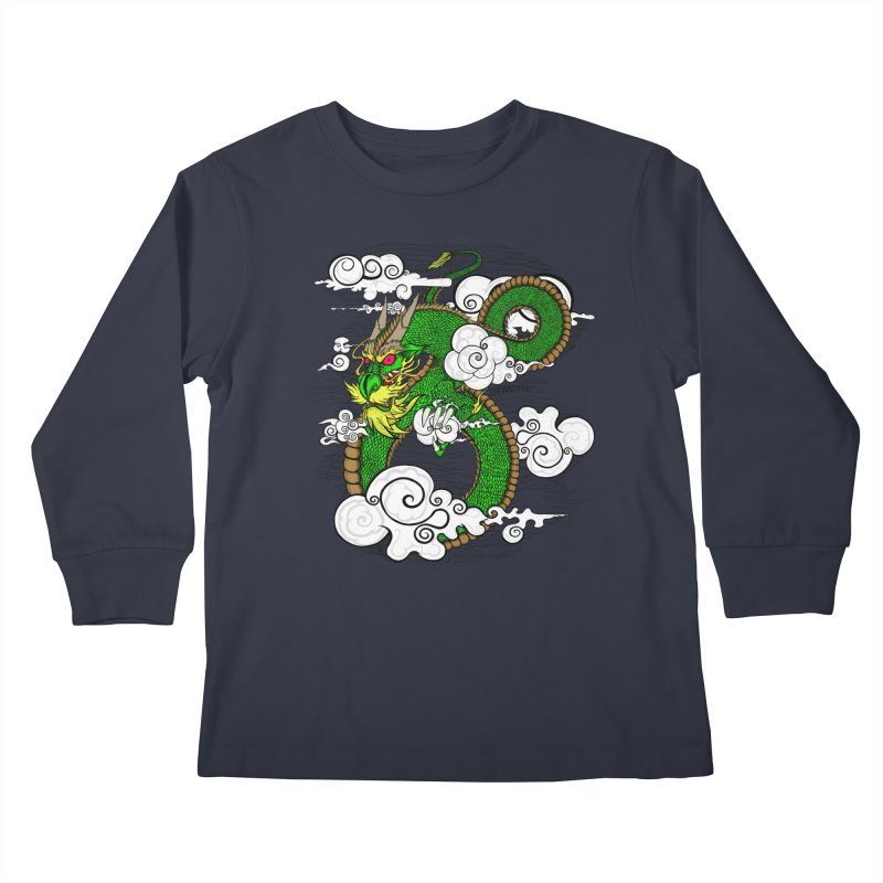 Dragon Daze Kids Longsleeve T-Shirt by THEWAYOFPK
