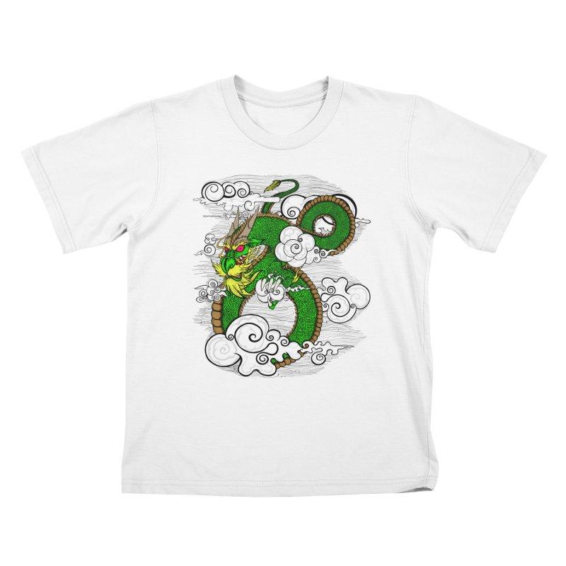Dragon Daze Kids T-Shirt by THEWAYOFPK