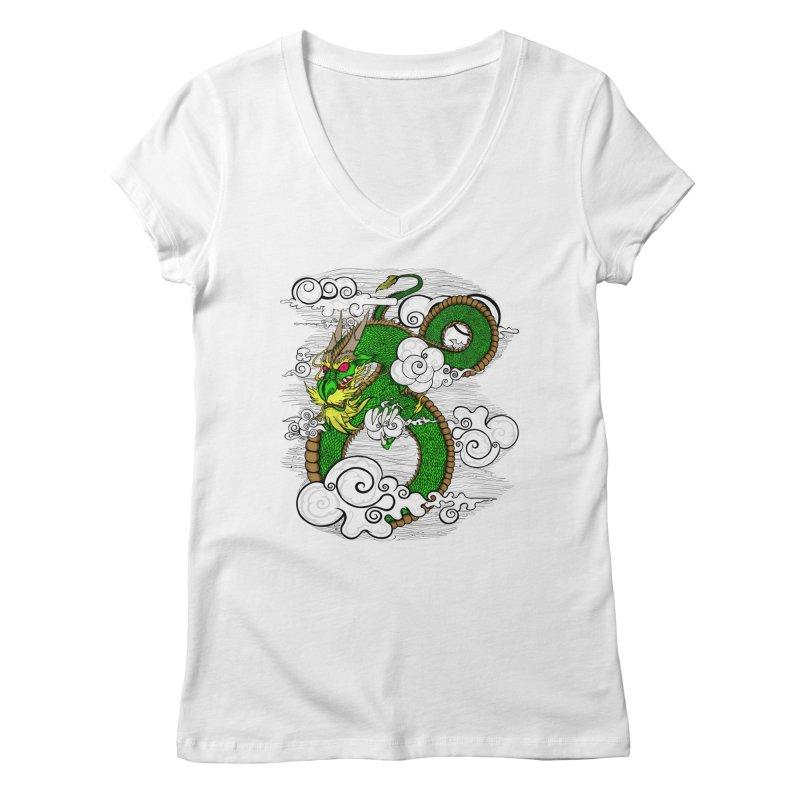 Dragon Daze Women's Regular V-Neck by THEWAYOFPK