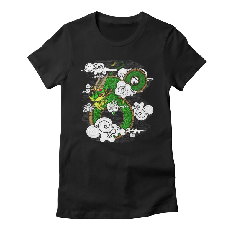 Dragon Daze Women's Fitted T-Shirt by THEWAYOFPK