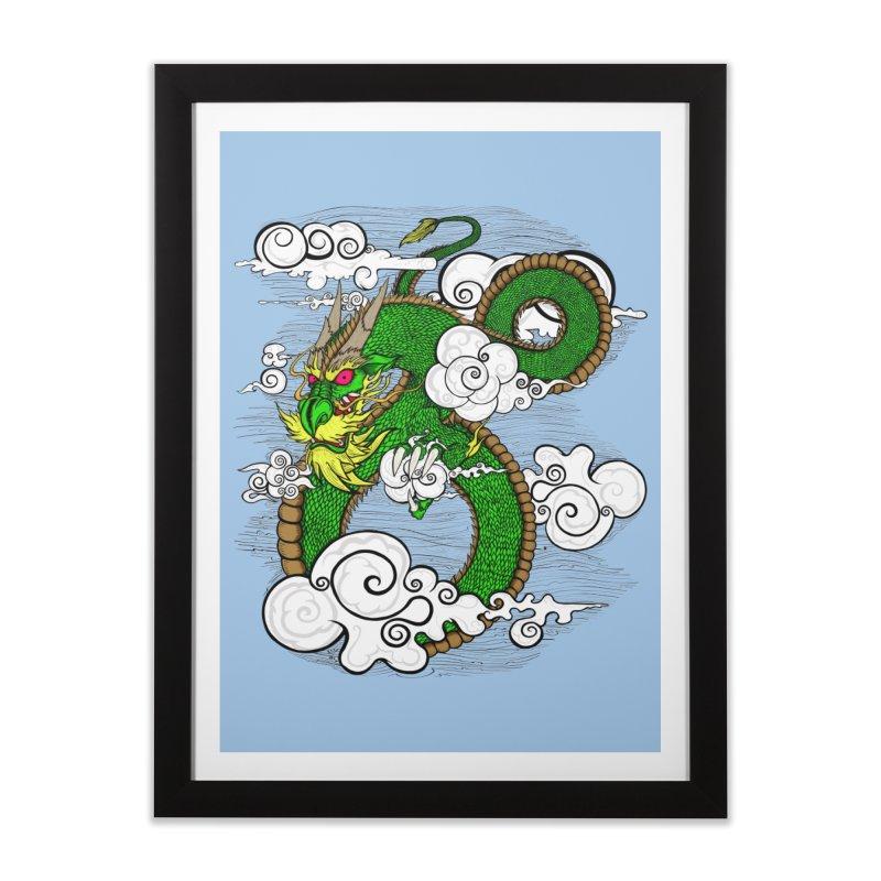 Dragon Daze Home Framed Fine Art Print by THEWAYOFPK